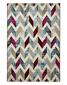 Velvet Multi Chevron Rug Large