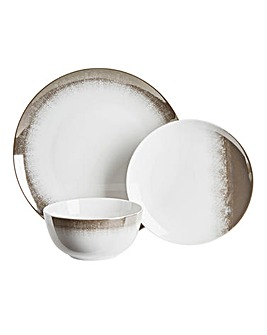 Metallic Fade 12pc Dinner Set