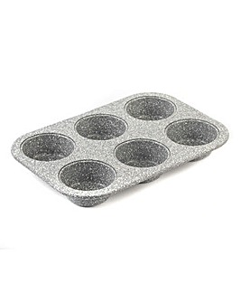 Salter 26.5cm Marble 6 Hole Muffin Pan