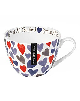 Watercolour Hearts Wilmslow Mug