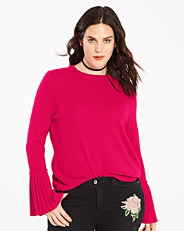 Pleat Sleeve Jumper