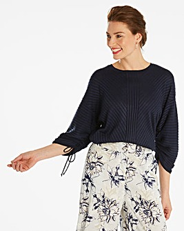 Ruched Sleeve Jumper
