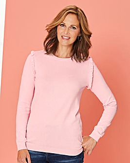 Frill Crew Neck Shoulder Jumper