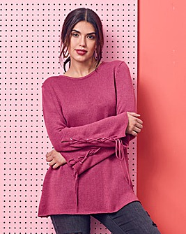 Value Flared Sleeve Eyelet Jumper