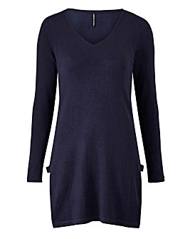 Tab Side V Neck Tunic