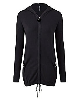 Hooded Sportive Cardigan