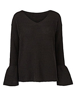 Fluted Sleeve Jumper