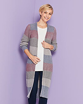 Metallic Yarn Cardigan