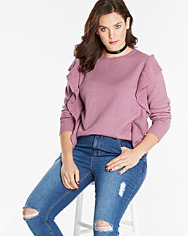 Ruffle Front Jumper