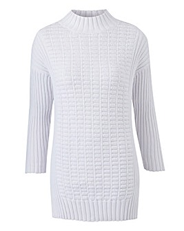 Stitch Inset Knitted Tunic