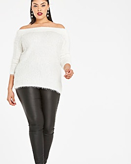 Fluffy Bardot Jumper