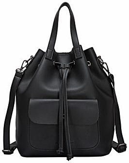 Claudia Canova Pocketed Drawstring Bag