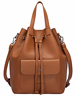Claudia Canova Pocketed Drawstring Bag