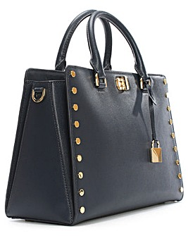Michael Kors Leather Studded Satchel Bag