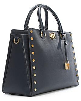 Michael Kors Leather Studded Satchel Bag