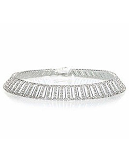 Jon Richard silver choker necklace