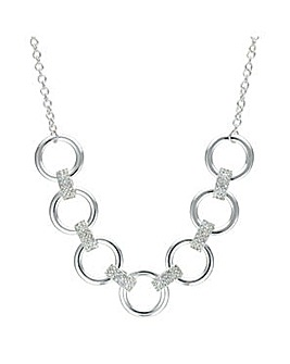 Mood circle link choker necklace