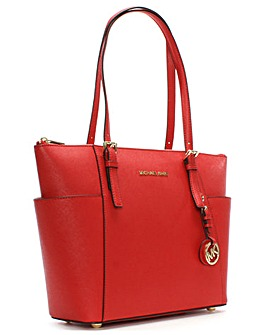 Michael Kors Bright Leather Pocket Tote