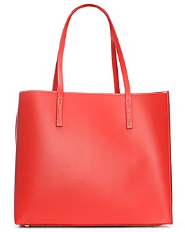 Daniel Shore Leather Unlined Tote Bag