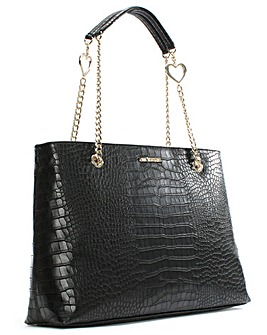 Love Moschino Becky Reptile Tote Bag