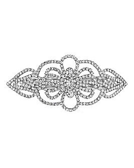 Mood Silver Diamante Hair Clip