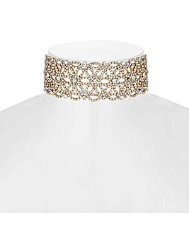 Mood Floral Diamante Choker