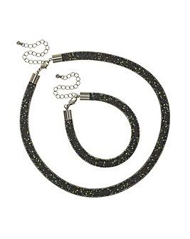 Mood Mesh Crystal Jewellery Set