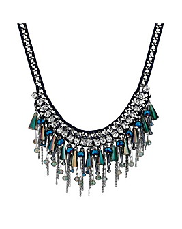 Mood Beaded Cluster Collar Necklace