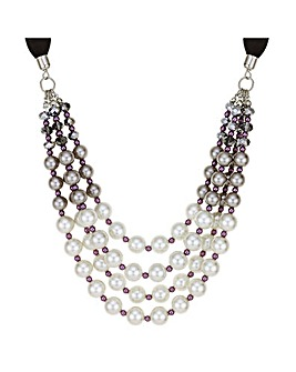 Mood Purple Tonal Pearl Necklace