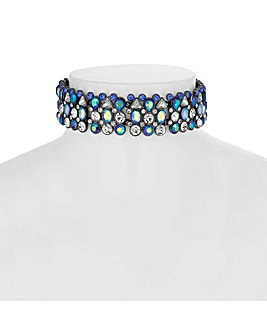 Mood Multi Tone Crystal Choker Necklace