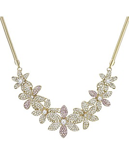 Mood Crystal Pave Floral Necklace