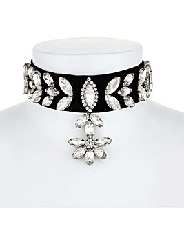 Mood Crystal Leaf Drop Choker