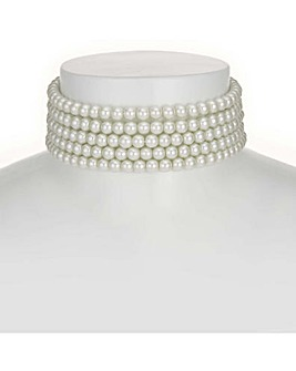 Mood Pearl Multi Row Choker
