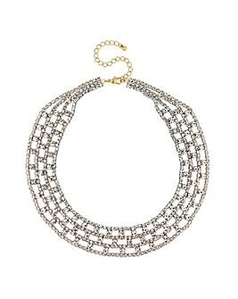 Mood Gold Diamante Collar Necklace