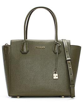 Michael Kors Pebbled Leather Satchel Bag