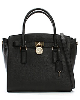 Michael Kors Leather Padlock Satchel Bag