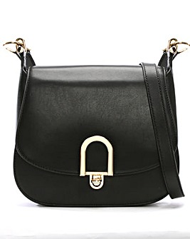 Michael Kors Leather Arch Saddle Bag