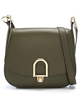 Michael Kors Leather Arch Saddle Bag
