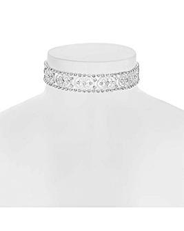 Jon Richard crystal choker necklace
