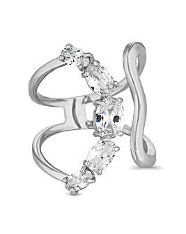 Jon Richard crystal curved ring