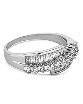 Jon Richard crystal twist ring