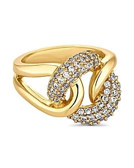 Jon Richard gold crystal knot ring