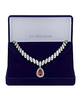 Jon Richard peardrop statement necklace