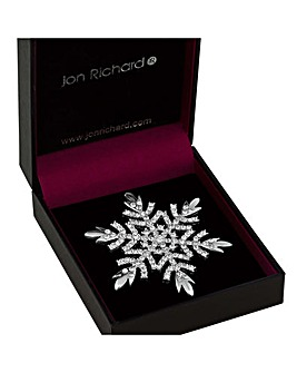 Jon Richard crystal snowflake brooch