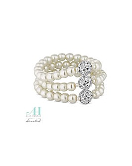 Alan Hannah cut out pearl bracelet