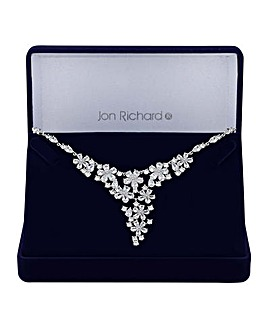 Jon Richard floral cluster necklace
