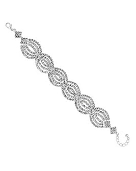 Jon Richard diamante wave bracelet