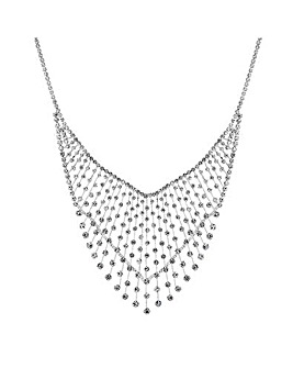 Jon Richard crystal v collar necklace