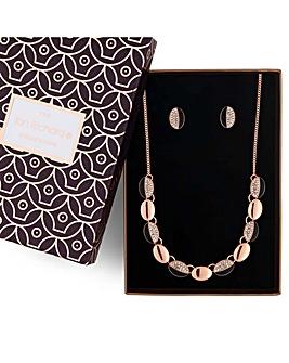 Jon Richard pave link jewellery set