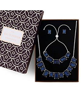 Jon Richard crystal square jewellery set